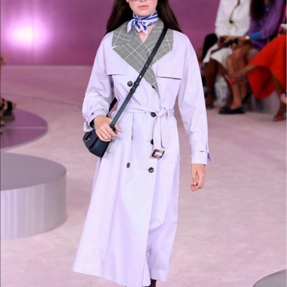 NWT Kate Spade Violet menswear lapel trench coat L